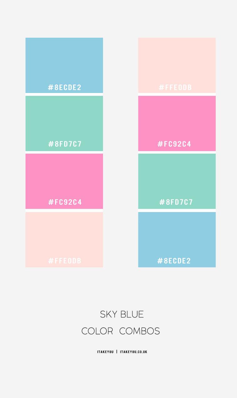Sky Blue Color Combos