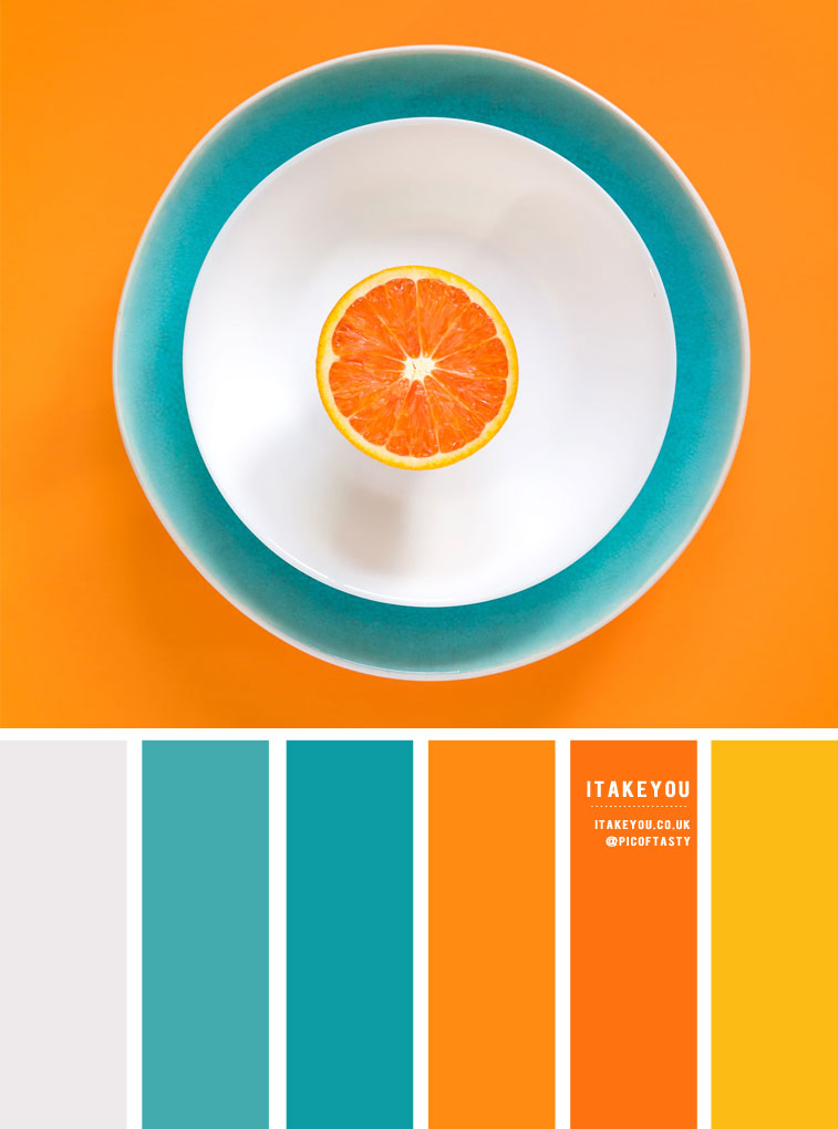 Orange, Teal and Yellow Color Inspiration