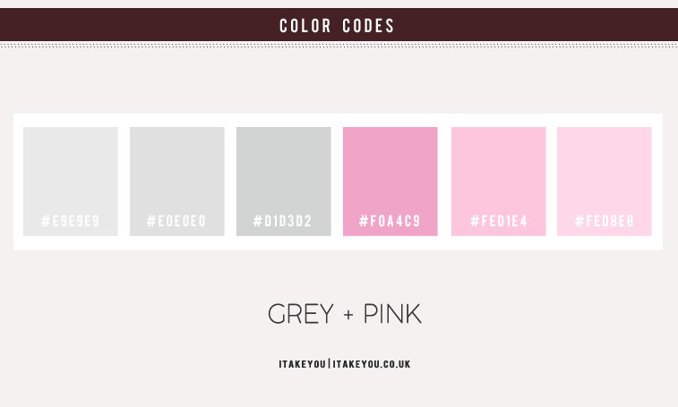 grey and pink color scheme, pink and grey color combos, grey color combos, pink color combos