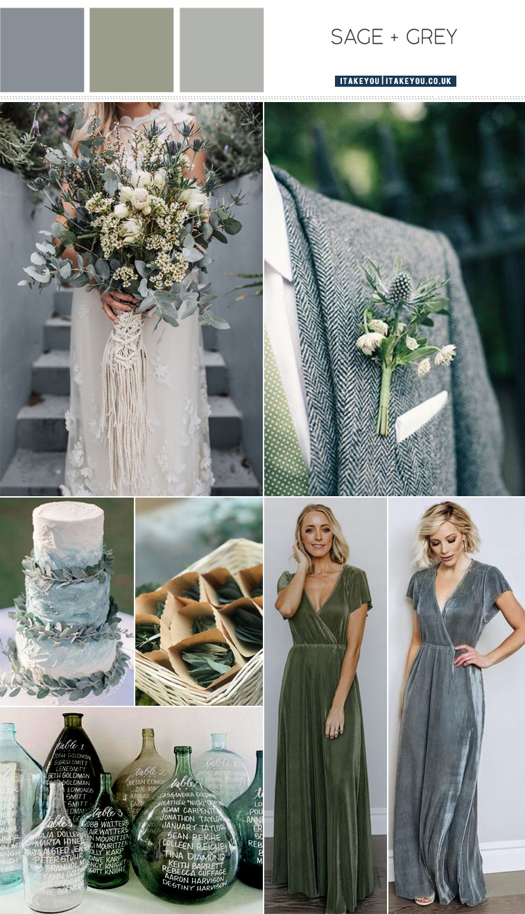 Grey and Sage Wedding Color Palette