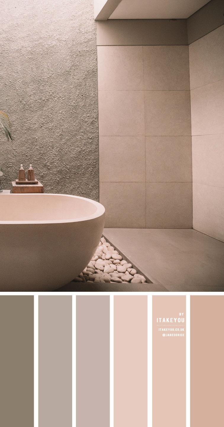 Earth Tone Color Combos For Minimalist bathroom