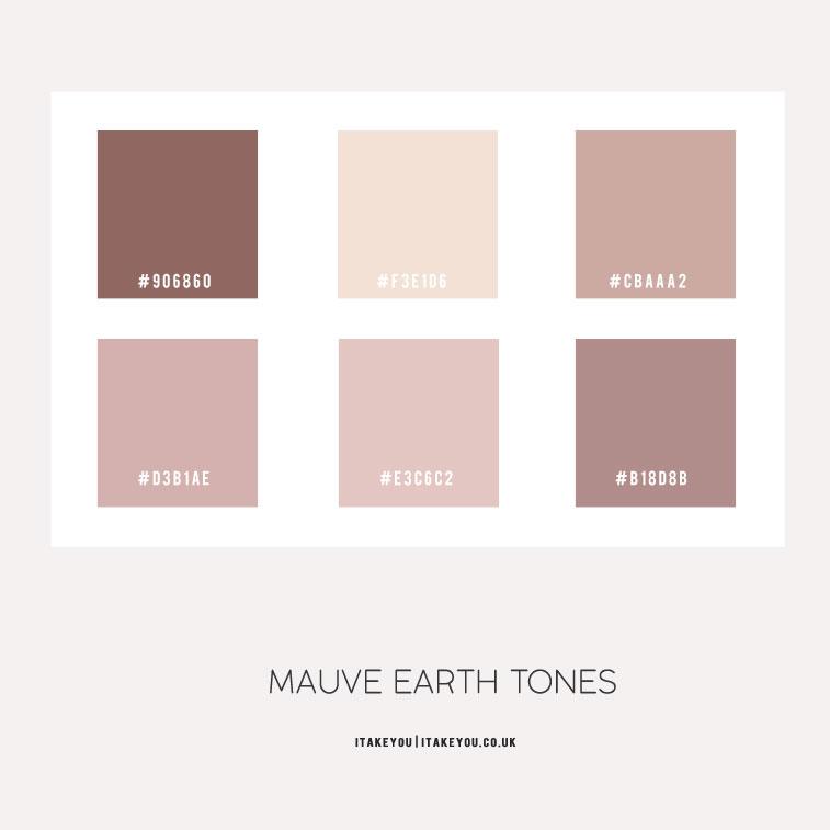 Bathroom Color Palettes: Mauve Earth Tone Color Palette For Bedroom 1