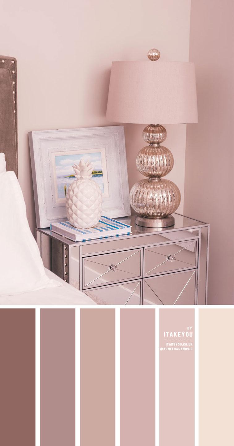 Mauve Earth Tone Color Palette For Bedroom