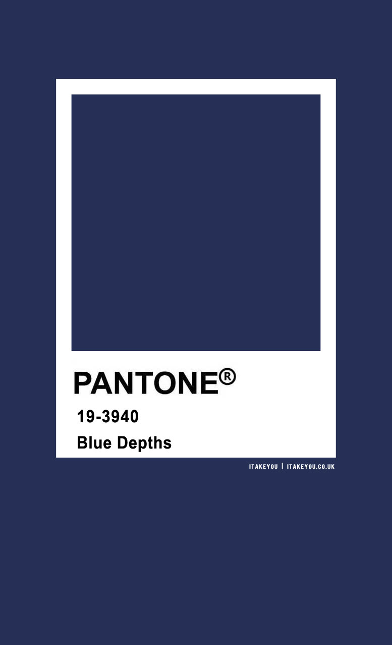 Pantone Color : Pantone Blue Depths