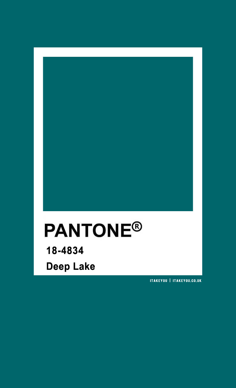 Pantone Color : Pantone Deep Lake