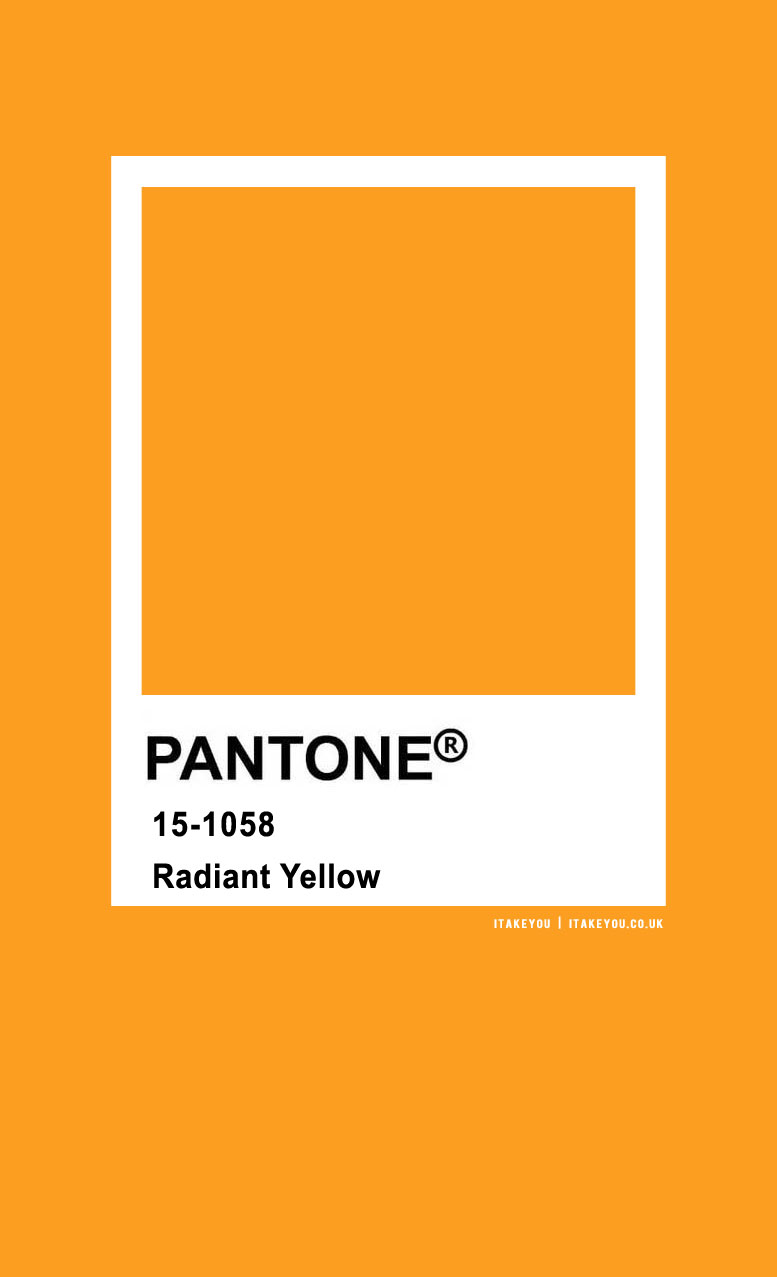 Pantone Color : Pantone Radiant Yellow Color