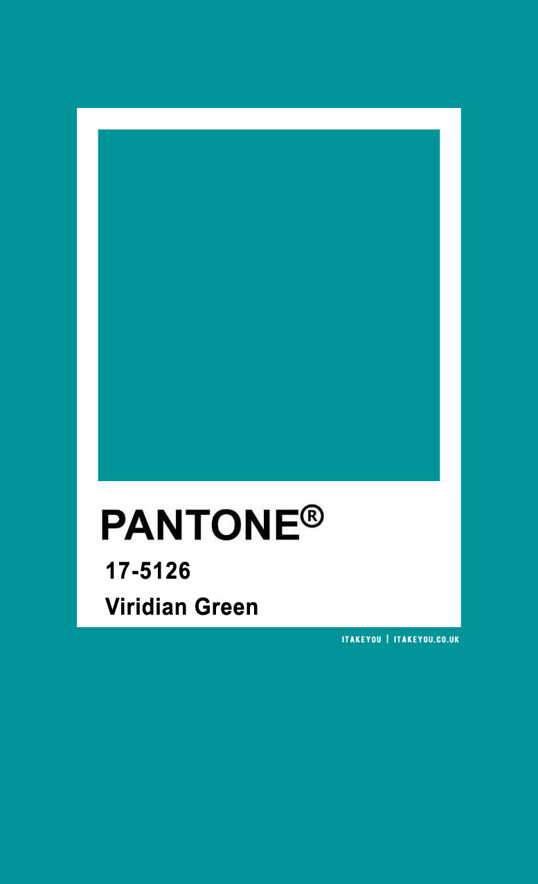 Pantone Color : Pantone Viridian Green Color