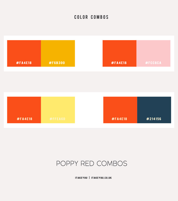 poppy red color combos, poppy red color , color combos, color wheel, red color combos, poppy red color code , poppy red paint color, poppy red orange, ruby red color, shades of red #red #poppyred