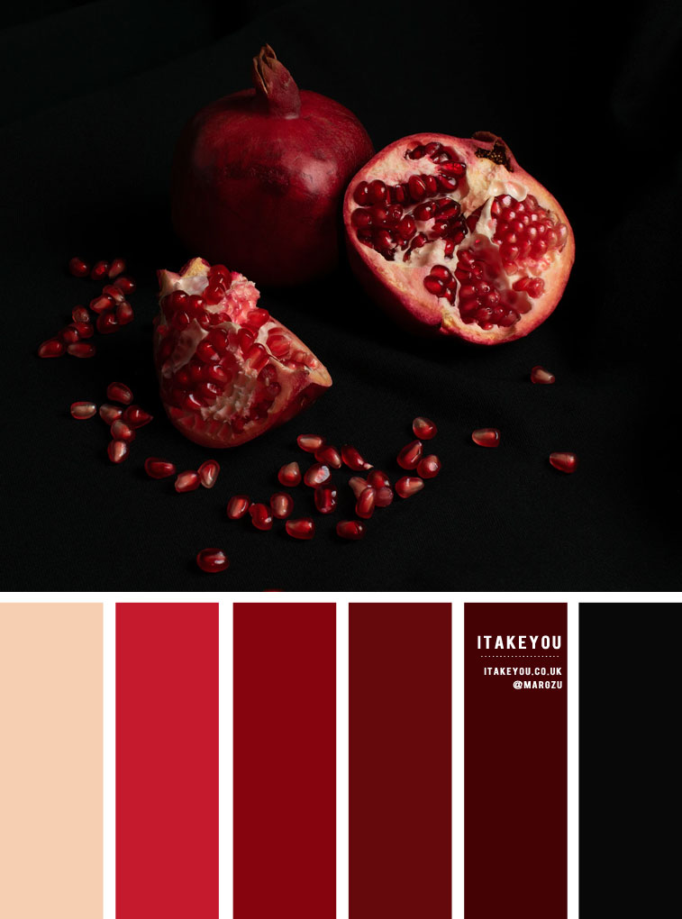 Red Pomegranate color combos