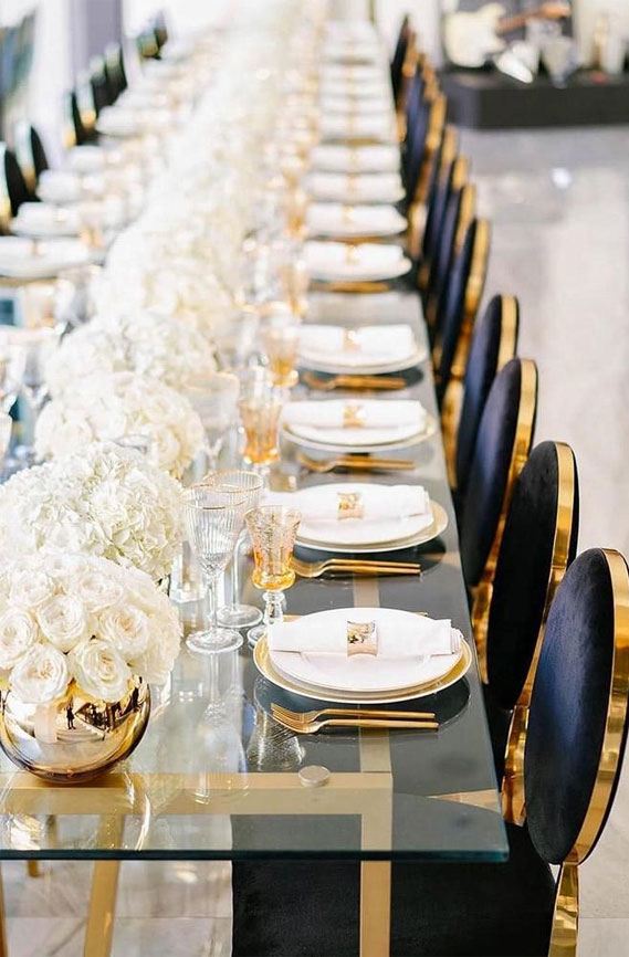 blue , white and gold wedding, wedding tablescape, wedding table decor #goldwedding #wedding wedding table