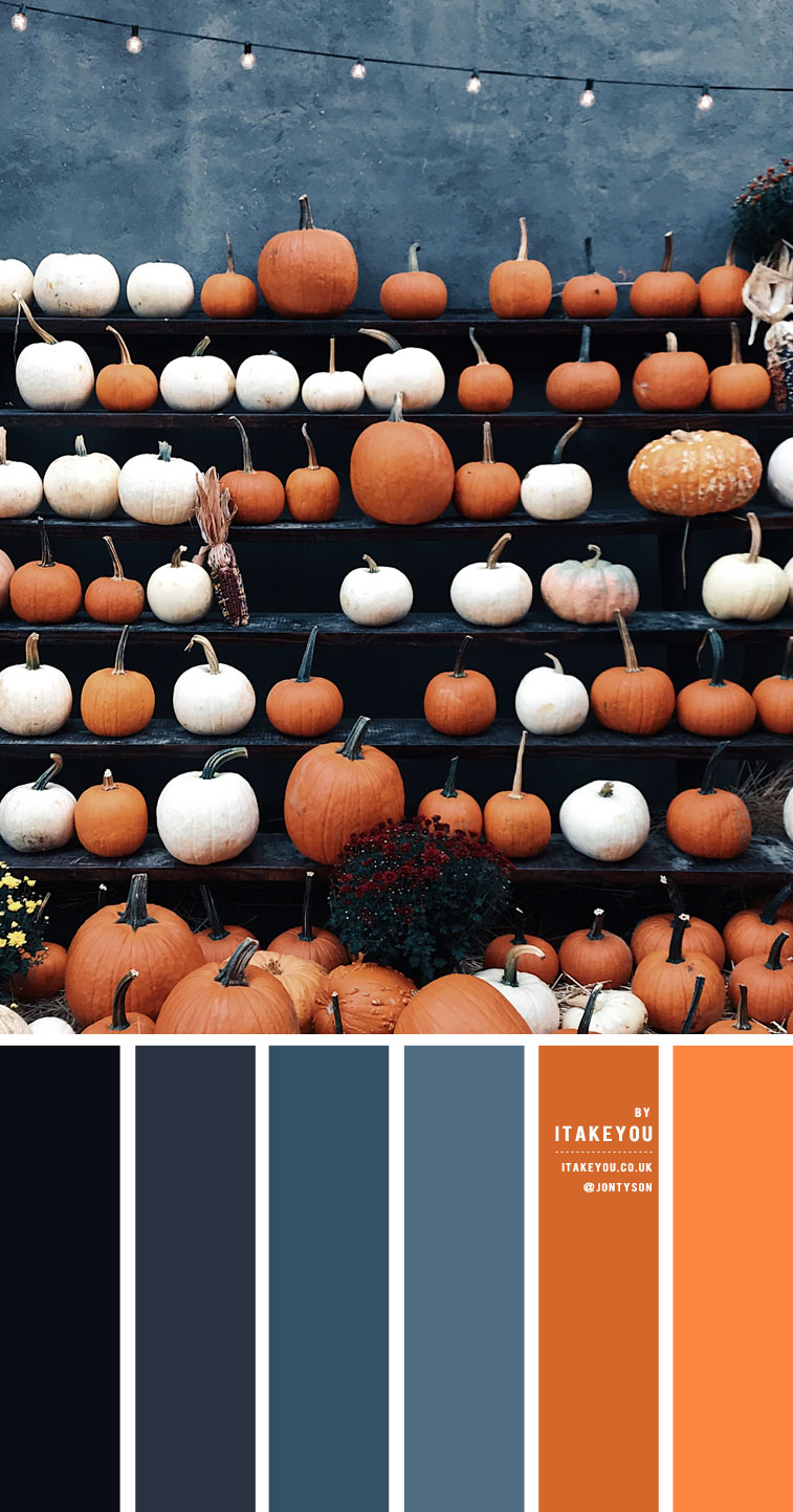 Steel Blue and orange color scheme – Color Palette #26