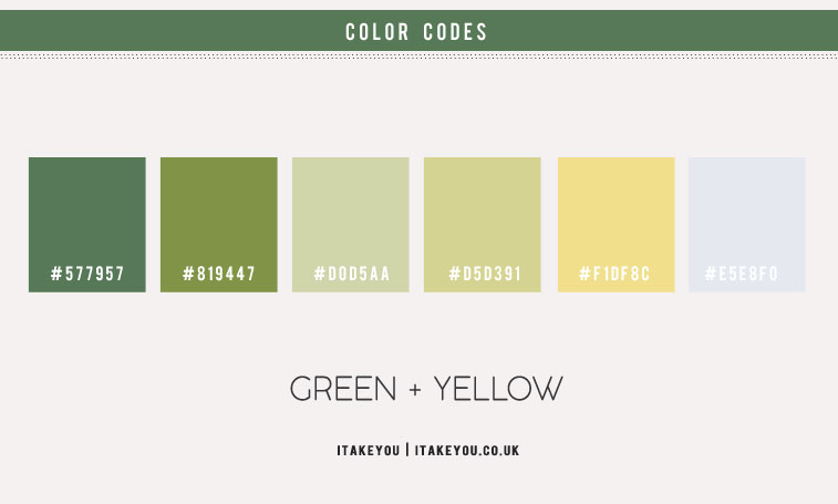 mint green and yellow color scheme, mint green color combo, green and yellow color combinations