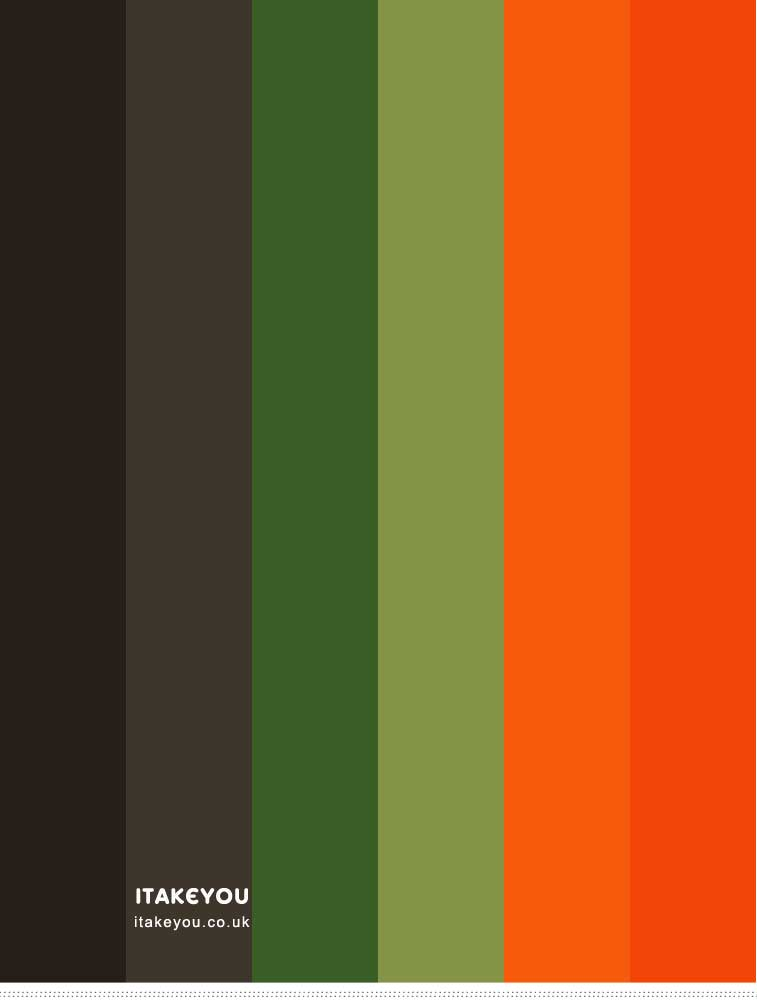 Black Green and Orange Color Combo
