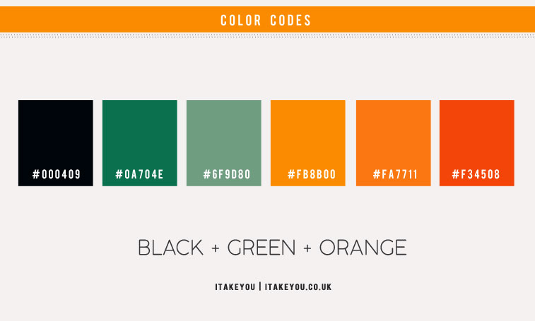 black and orange, green orange color scheme, green and orange color combo, black green orange color scheme, black green orange color combos, black green orange color palette, color scheme , green color combo, orange color combo