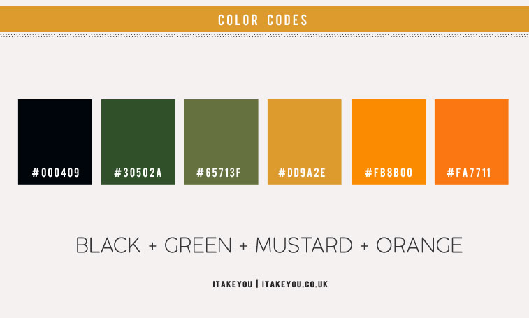 green and mustard color scheme, green and orange color combo, black green orange color scheme, black green orange color combos, black green orange color palette, color scheme , green color combo, mustard and orange color combo