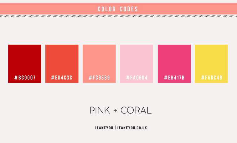 coral and pink color scheme, coral and hot pink color combo, pink and coral color combo, coral pink and yellow color scheme, pink and coral color palette