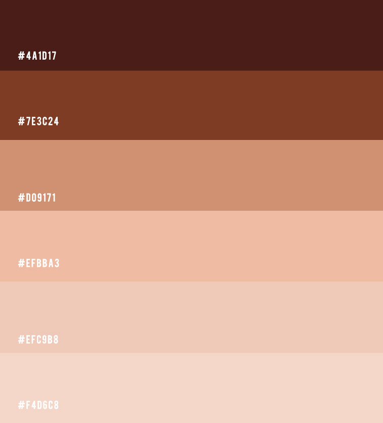 earth tone color scheme, brown and tan color combo, ombre neutral color