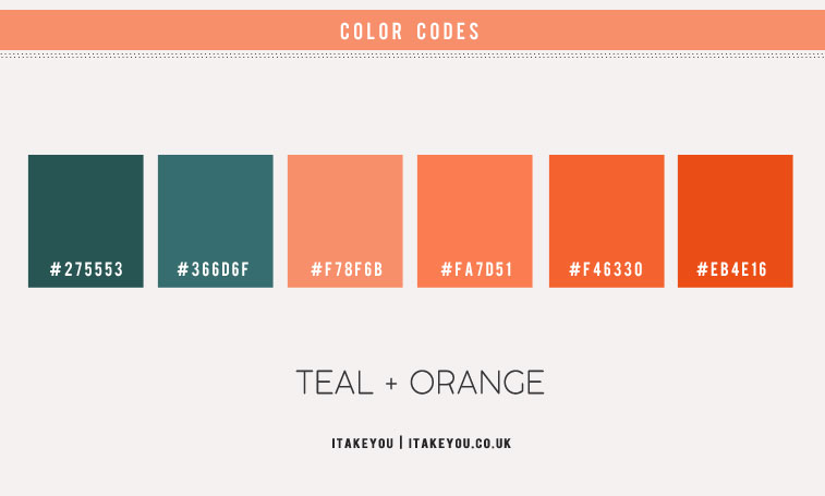 orange and teal , orange and teal color combo, green teal and orange color scheme, orange color scheme, orange and teal color combination, color hex, teal color hex