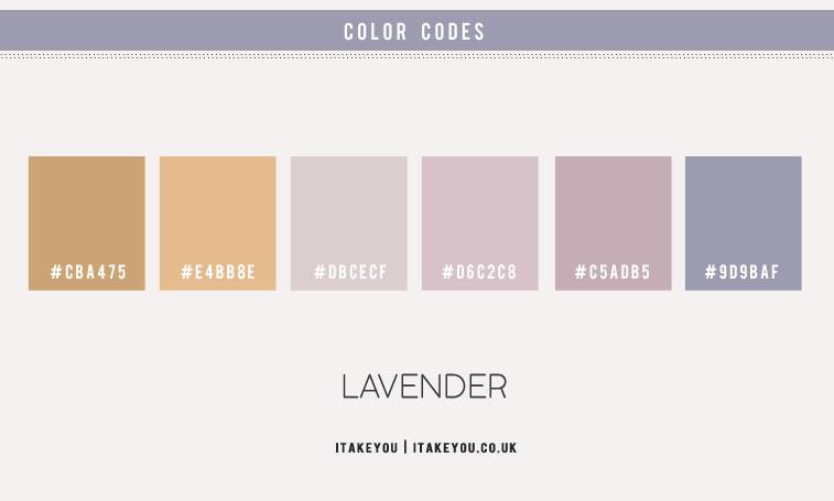 lavender hue, lavender hue color scheme, lavender and taupe color scheme, lavender color combo