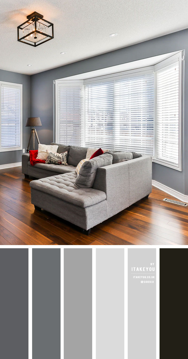 Grey colour scheme living room