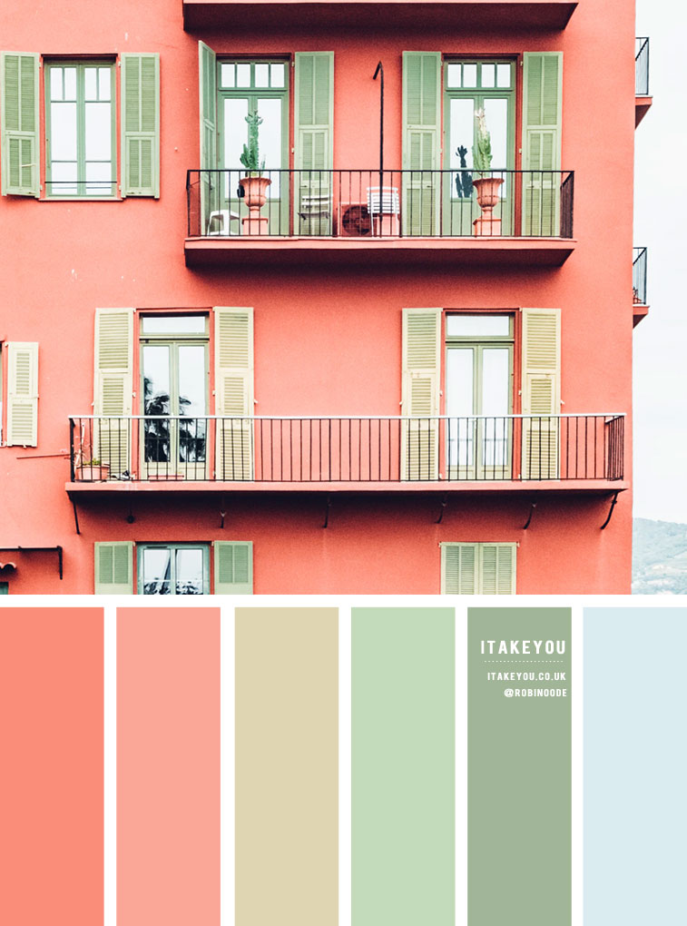 terracotta and mint color scheme, color combo, mint and terracotta color palette , color palette