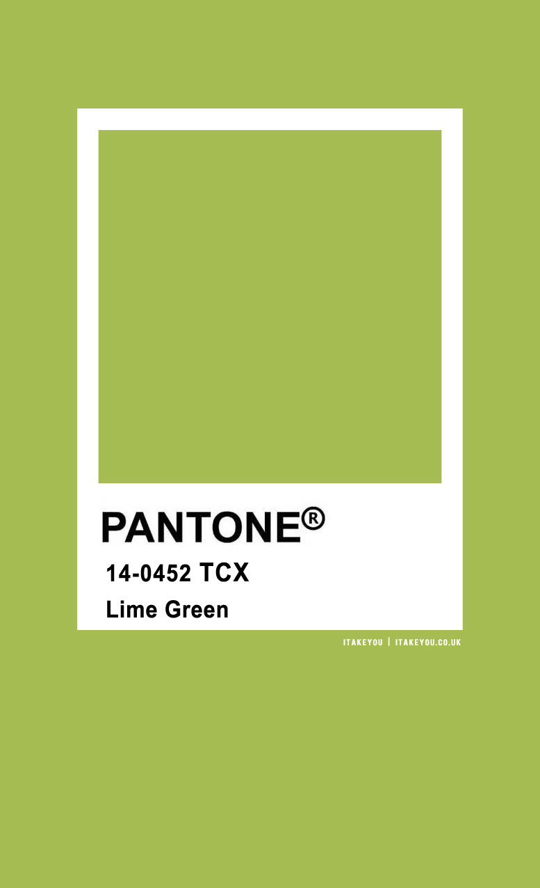 Pantone Color : Pantone Lime Green Color