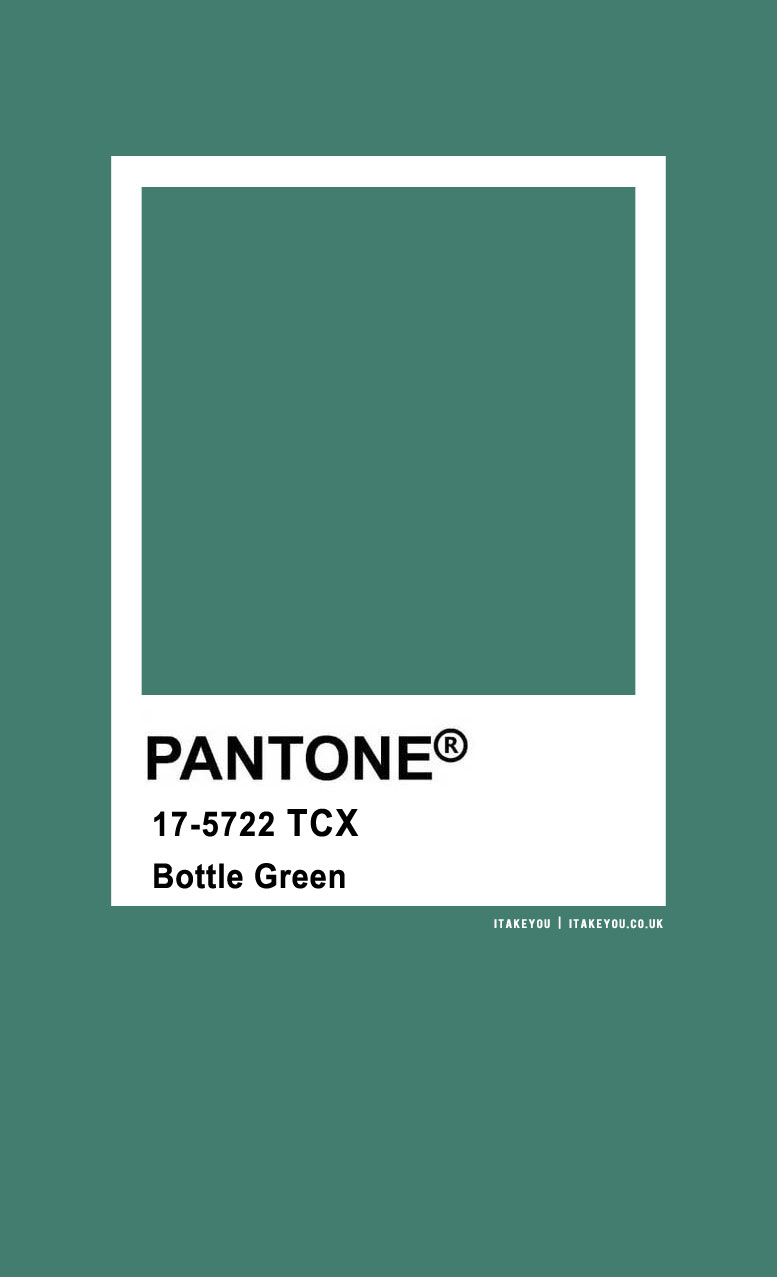 Pantone Color : Pantone Bottle Green