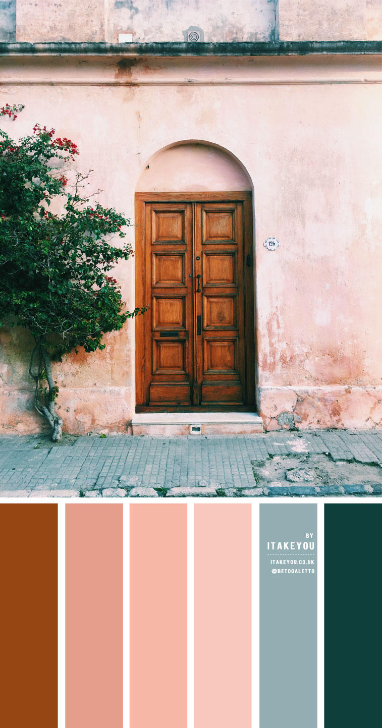 Duck egg blue and peach color scheme – Color Palette #23