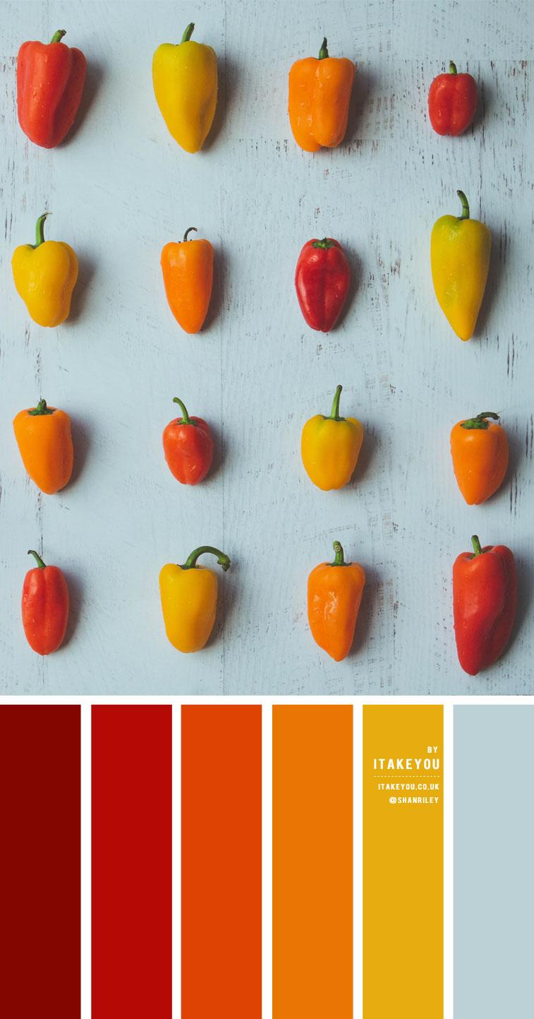 Red Orange Yellow And Light Blue Colour Scheme – Colour Palette #36