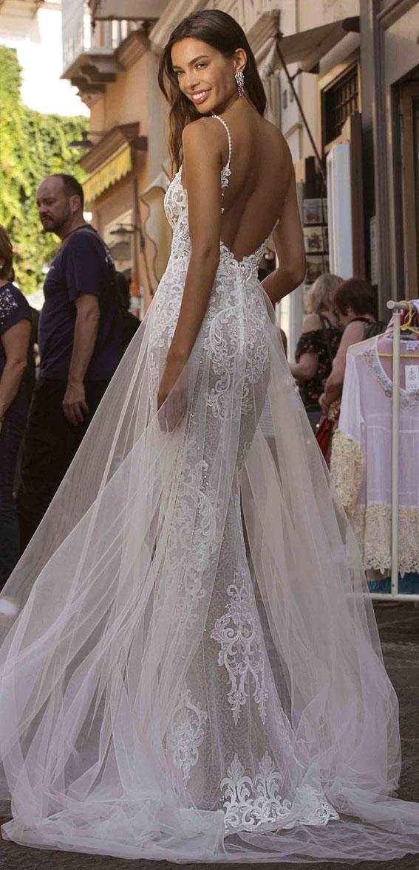 berta privee wedding dresses, berta privee bridal, berta bridal 2020, berta wedding dress , thin strap deep v neckline mermaid wedding dress #wedding #weddingdresses #bridaldress #bridedress #weddinggowns