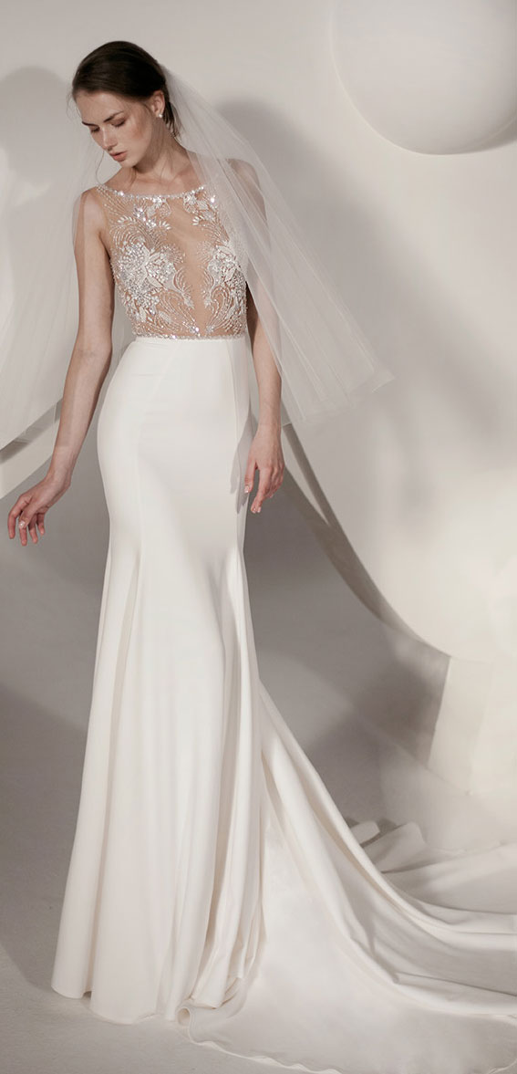 """Alon Livné White SS20 Wedding Dresses — Miley Wedding Dress """"Rêverie"""" Editorial"""