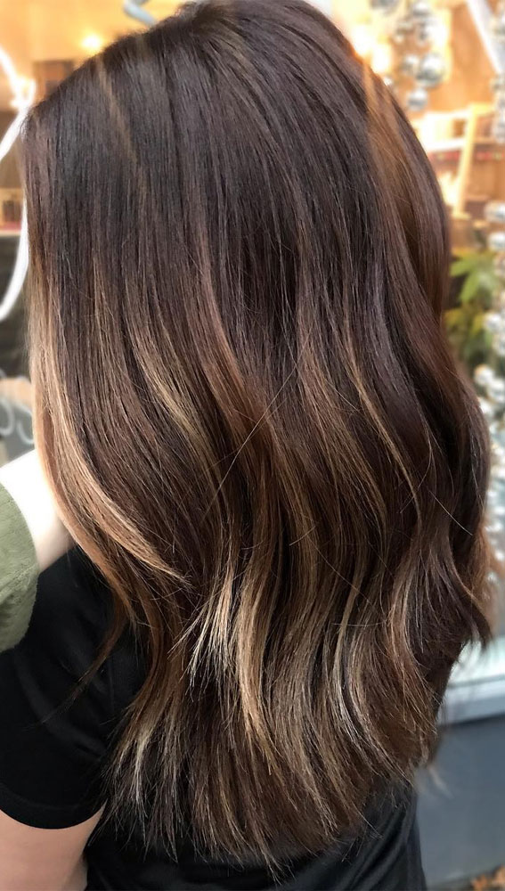 balayage hair color, best balayage hair color ideas,brunette balayage, balayage brown hair, brunette balayage straight hair, brunette balayage lob, brunette balayage bob, brunette balayage 2020, balayage brunette caramel, brunette balayage short hair, subtle brunette balayage, blonde balayage on dark brown hair, balayage for brunettes