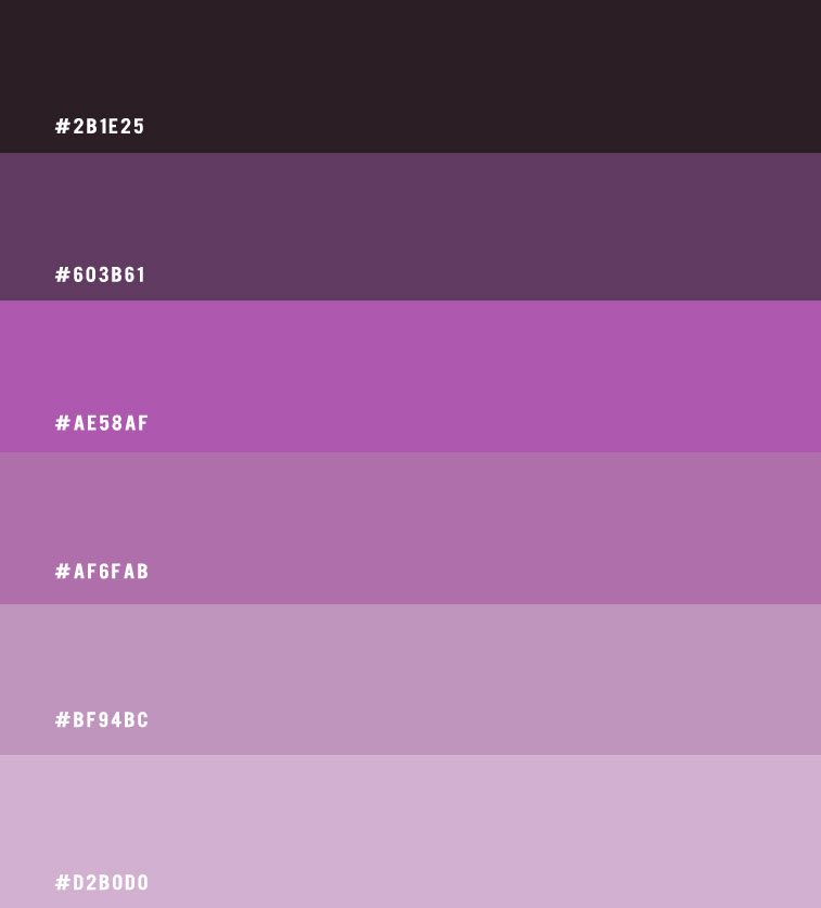 ombre purple, purple tones color scheme, purple color scheme, purple tones, color of purple , purple colour palette, purple color scheme