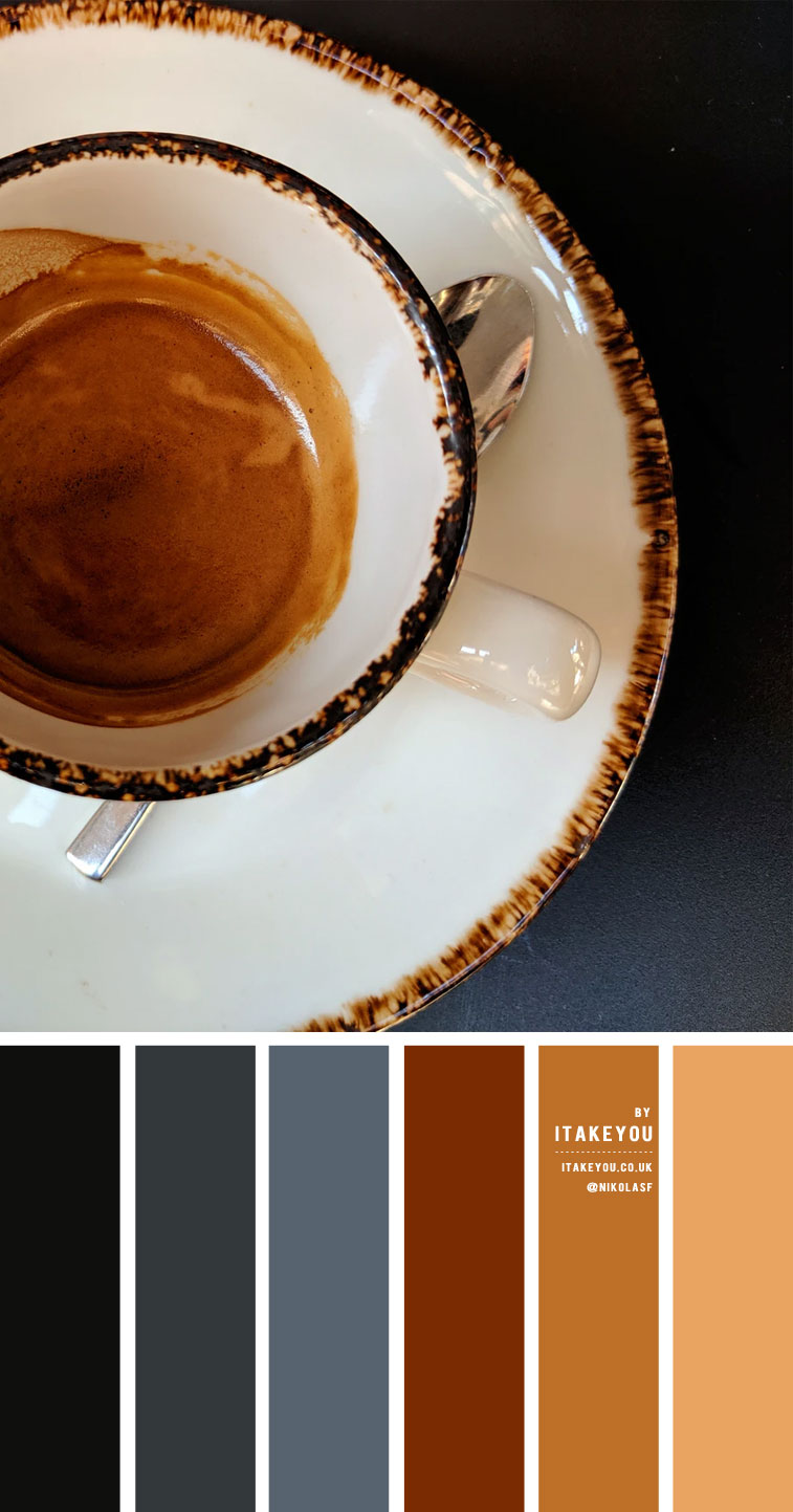 Dark Blue Grey and Brown Coffee – Colour Palette #41