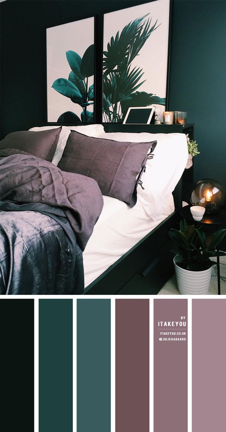 Dark Green And Dark Mauve Bedroom 1 I Take You Wedding Readings Wedding Ideas Wedding Dresses Wedding Theme