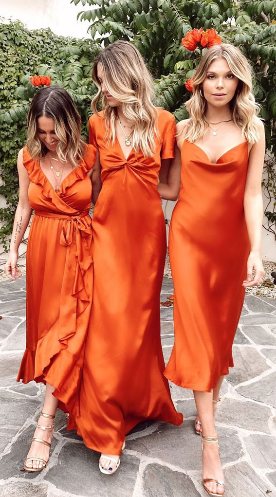 Slip Bridesmaid Dresses For The Minimalist Looks