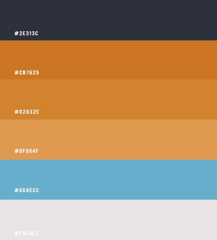 hex colours, terracotta hex colours, terracotta and blue colour scheme, brown sand colour scheme, blue and sand colour combination, terracotta colour scheme