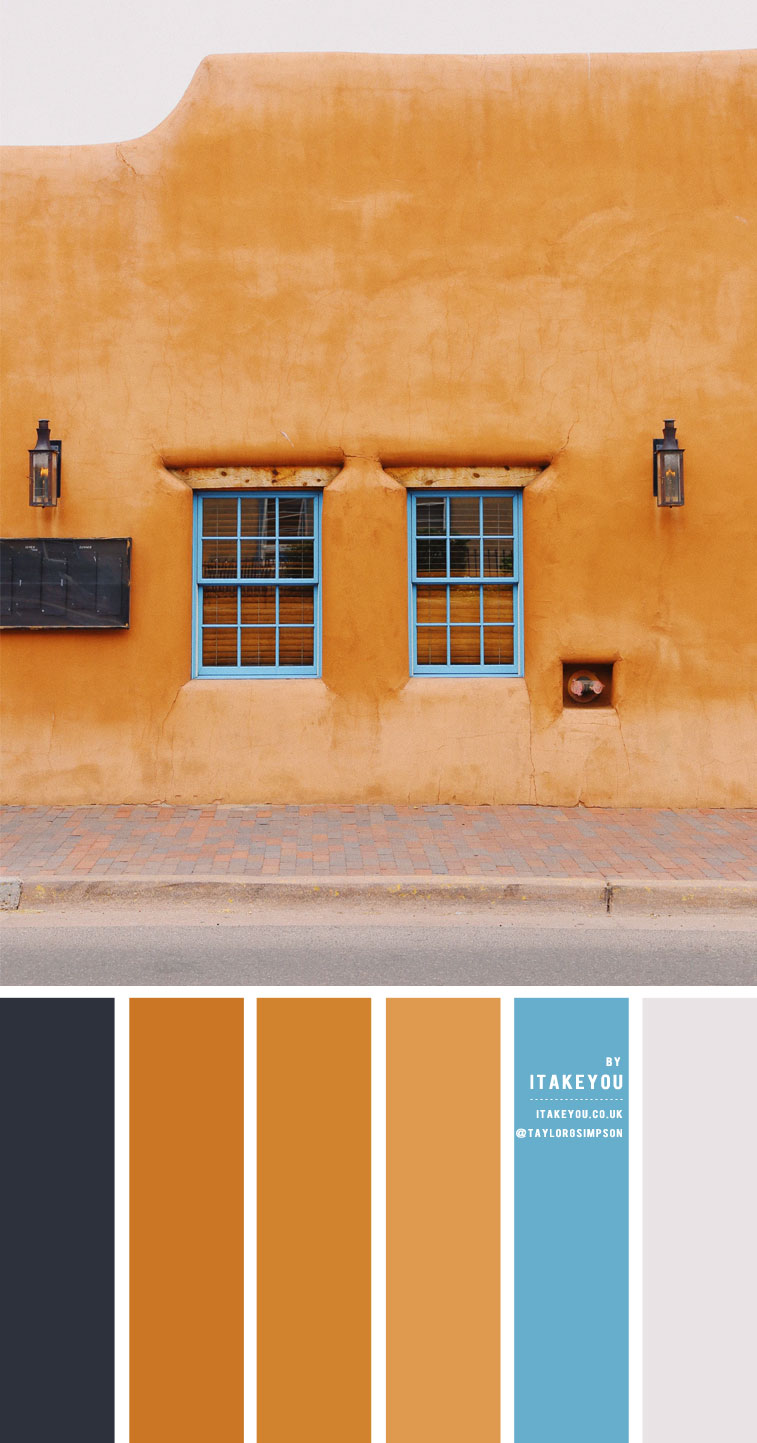 Brown Terracotta and Blue Colour Scheme – Colour Palette #43