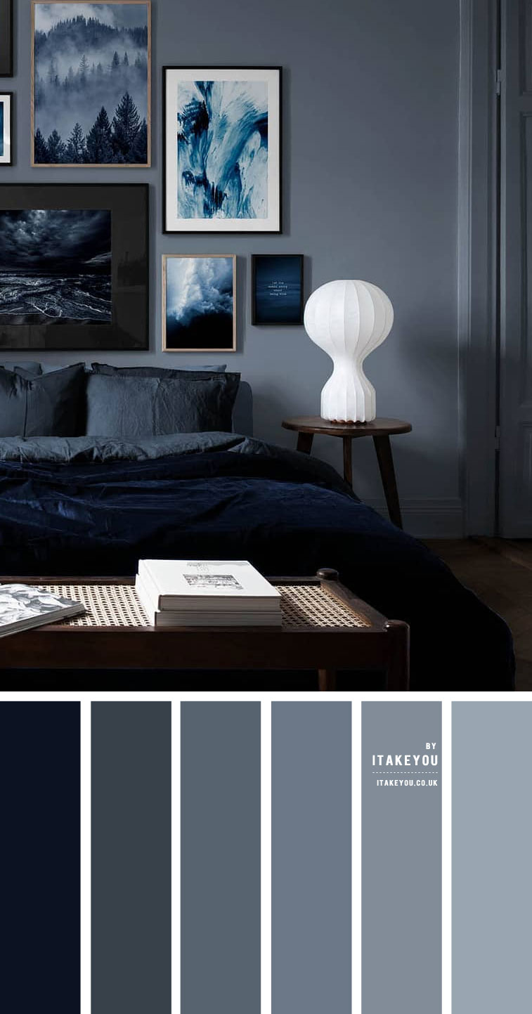 Dark Blue Grey Bedroom Colour Scheme