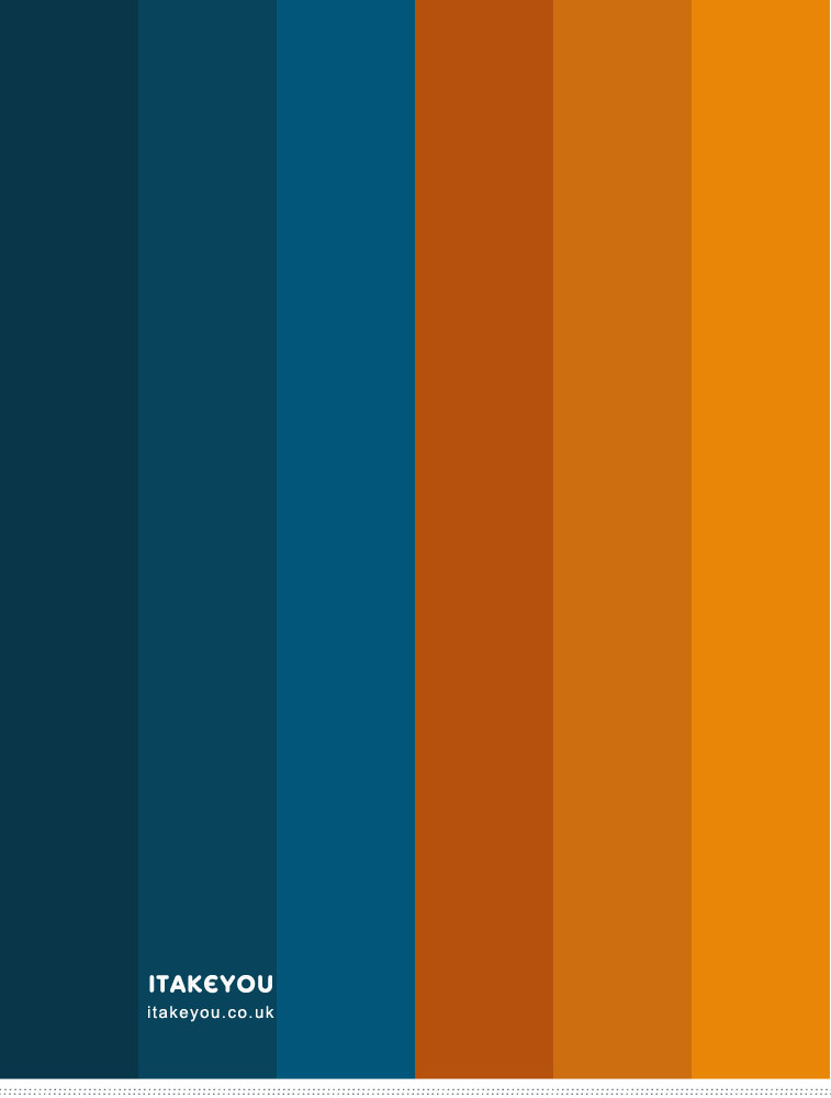 Dark blue and saffron color scheme