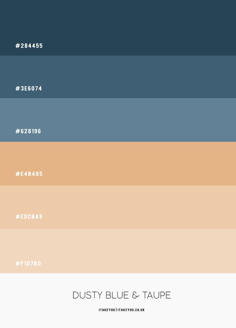staubblau und taupe farbe hex, staubblau farbe hex, taupe farbe hex, staubblau und taupe farbkombination, staubblau und taupe farbkombination #colorcombo #colorscheme
