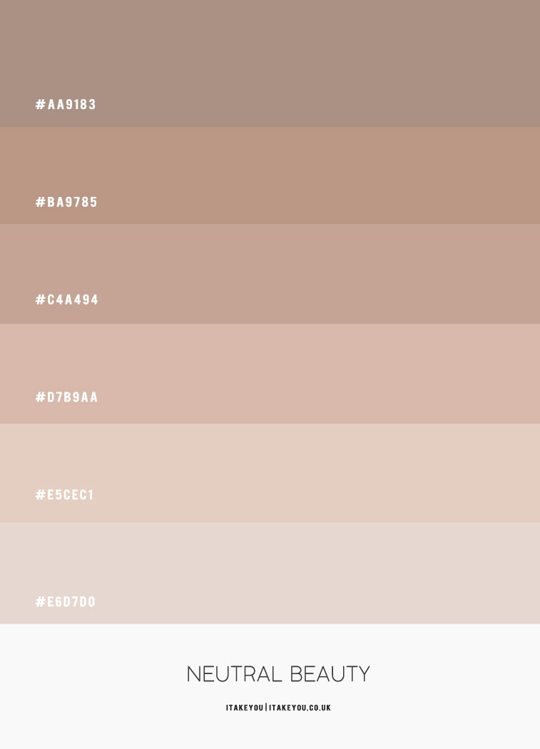 neutrale Farbe hex, taupe hex Farbe, neutrale Farbpalette, neutrale Farbideen, neutrale Farbkombination, neutrales Farbschema #colorpalette #colorcombo #neutral