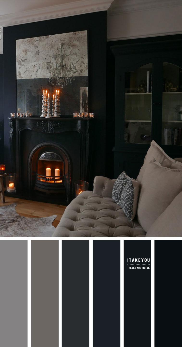 Dark Living Room Colours Blue Grey Colour Scheme Itakeyou