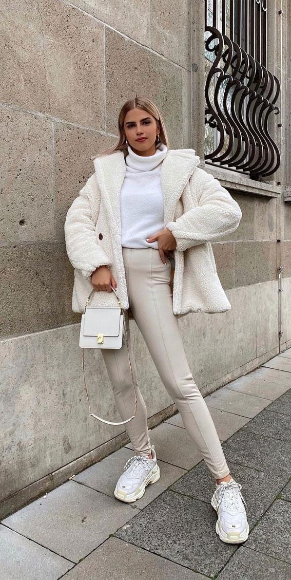 Teddybär Mäntel, Teddybär Mantel Outfits, Teddy Mantel Outfit Ideen #teddycoat #teddycoatoutfit Winter Outfit Ideen, Winter Outfits