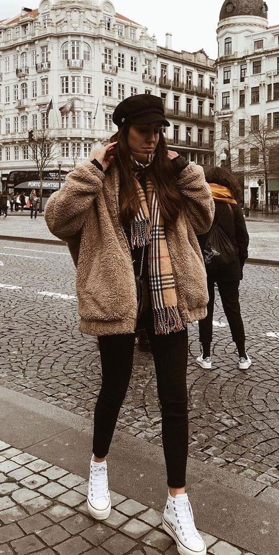 Teddyjacke, Teddymantel, Schichtkleidungsstil, Schichtkleidungsoutfit, Schichtkleidungsideen, Schichtkleidungsideen, Winterschichtschichtoutfitideen, Herbstschichtkleidung