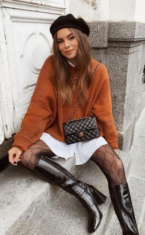 übergroßer Pullover, mehrschichtiger Kleidungsstil, geschichtetes Kleidungsoutfit, geschichtete Kleidungsideen, überlagerte Kleidungsideen, überlagerte Winterkleidungsideen, geschichtete Herbstkleidung