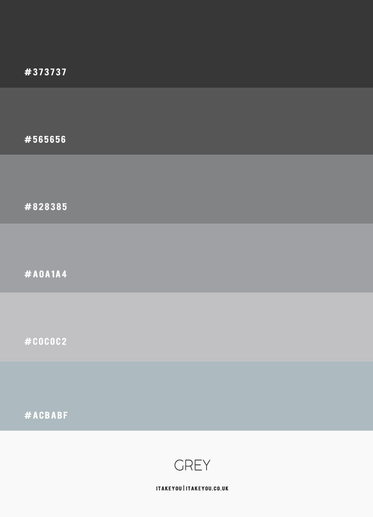 graue Hex-Farbe, Grautöne, Grautöne, Grautöne, graue Farbe, graues Farbschema