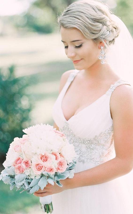 rosa und weißer Brautstrauß, rosa Hochzeitsstraußideen, rosa Hochzeitsstrauß