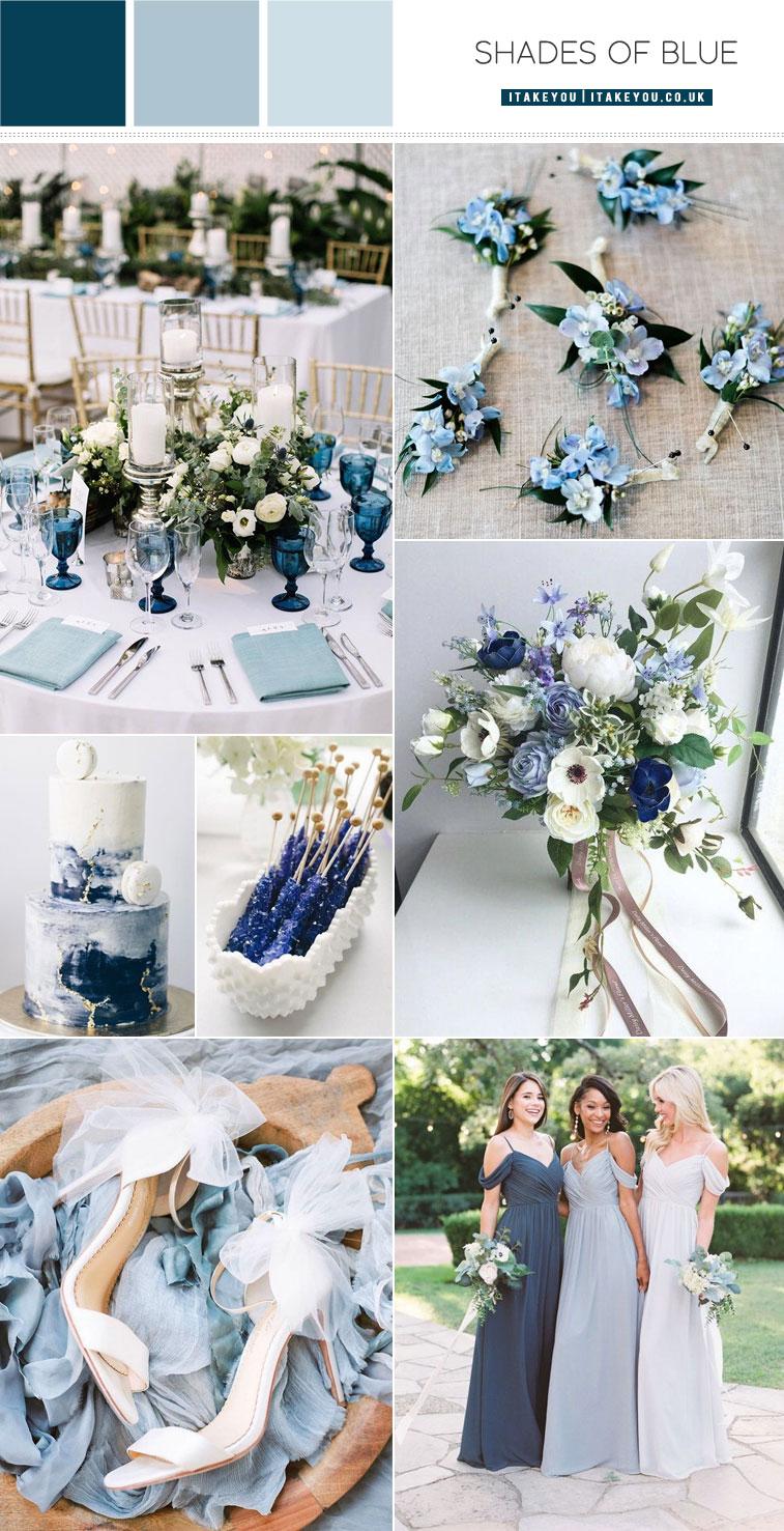 Shades Of Blue Wedding Colour Theme Something Blue Wedding Ideas