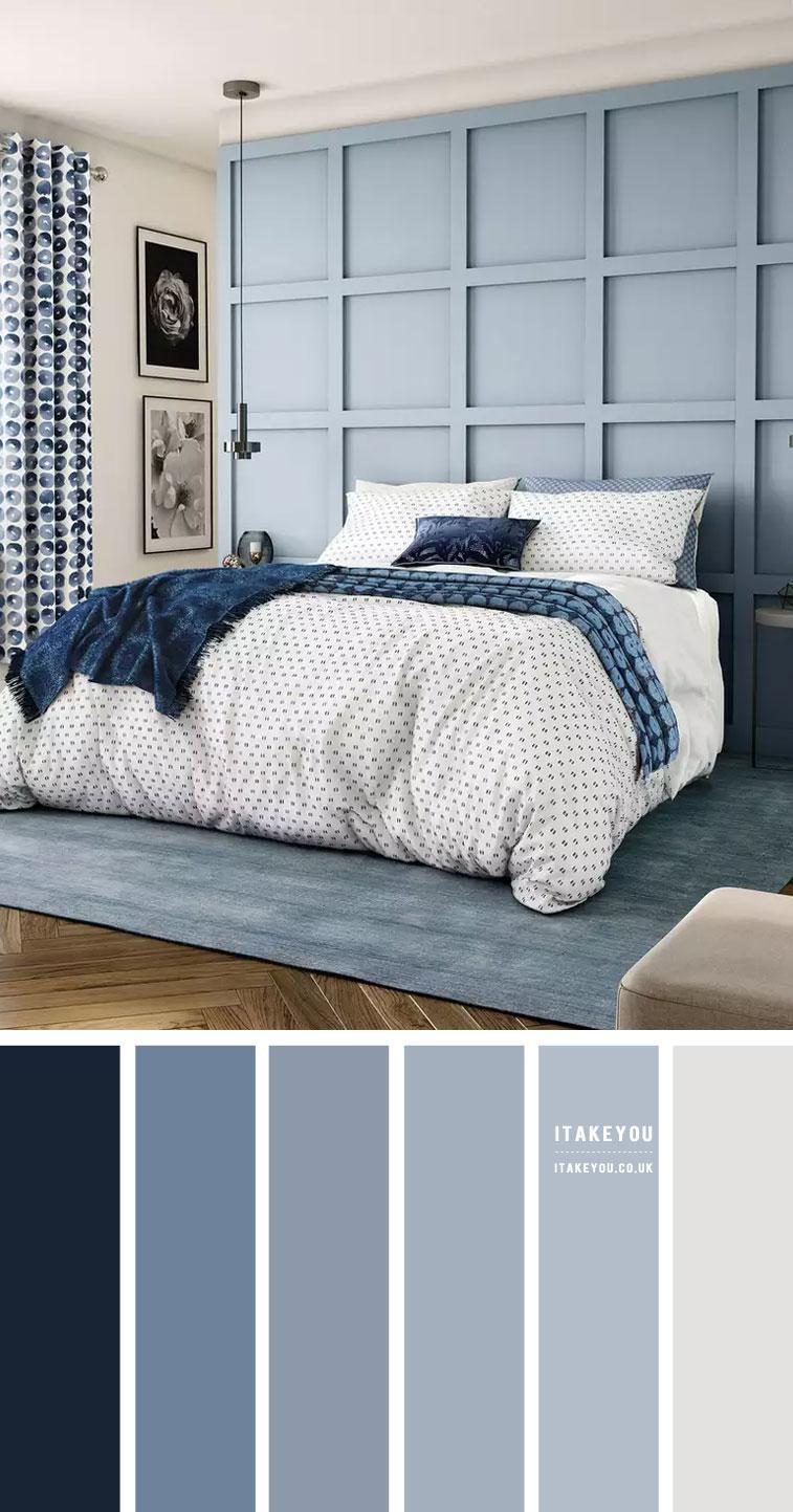 Dusty Blue Bedroom Colour Scheme Dark Blue And Dusty Blue Colors